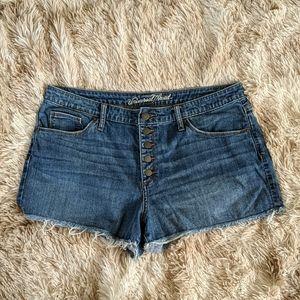 Universal Thread high rise jean shorts